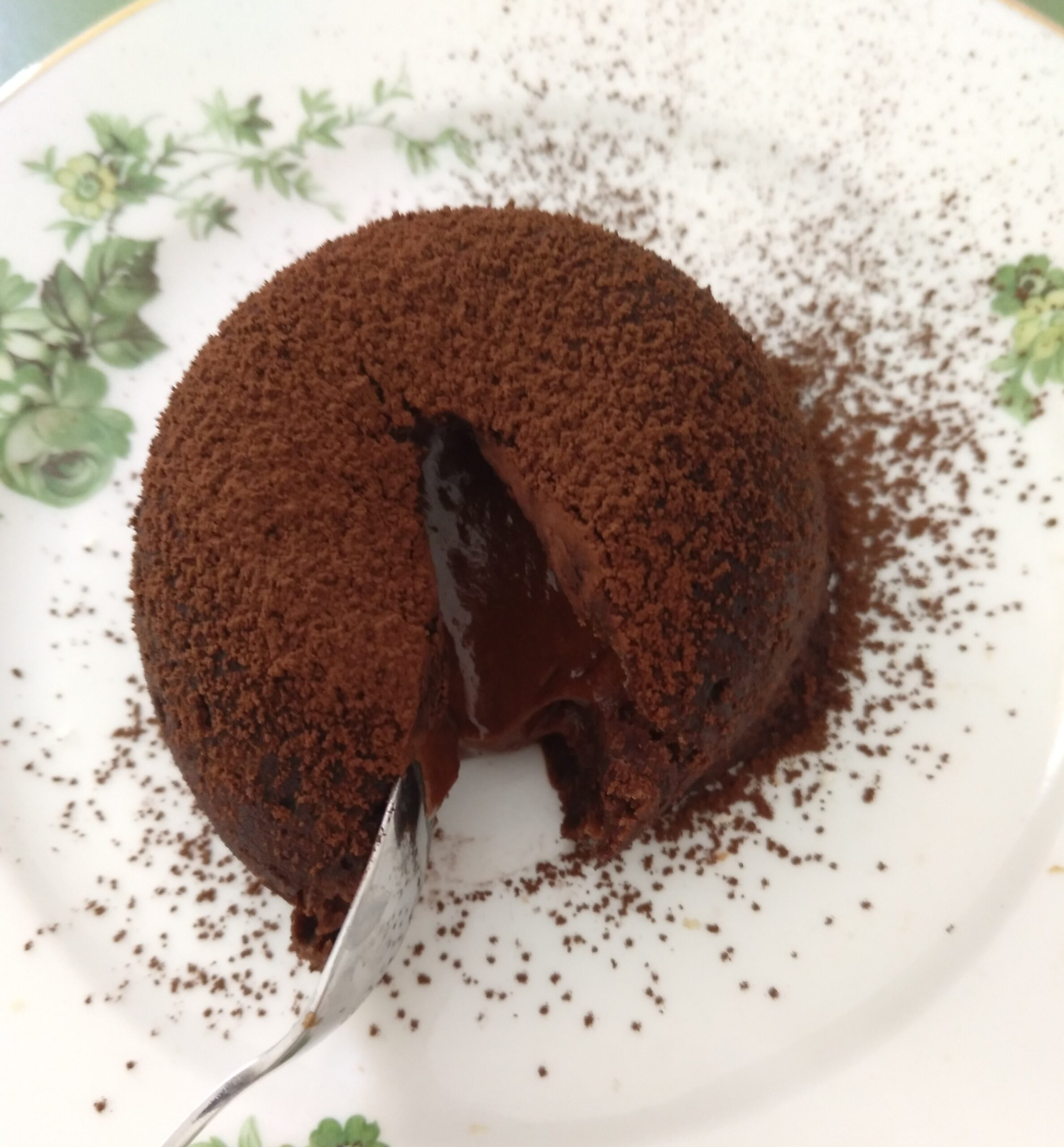 Chocolate coulant or lava cake